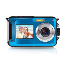 24MP Dual LCD Screen waterproof Digital Camera Ago 2.7 inch Rear 1.8 inch self-timer waterproof CMOS Camcorder mini Camera DVR