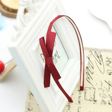 Ribbon Cloth Knotted Bow Thin Hairband Trendy Headdress Many Colors for Selecting Fashion Headwear for Women Hair Accessories(China)