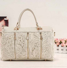 OLGITUM Hot Sale New Fashion 2017 Vintage Lace Handbag Women PU Leather Tote Shoulder Bag Popular Messenger Bag F097