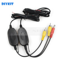 DIYKIT Wholesale 2.4 G Wireless RCA Video Transmitter Receiver Car Rear View System For Car Backup Camera and Car Monitor(China)