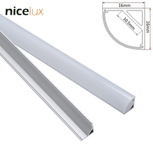 10set 1.6ft 0.5m/set LED Strip Aluminum Channel Profile for 8mm 10mm 3528 5050 LED Bar Light Triangle Corner Using Housing(China)