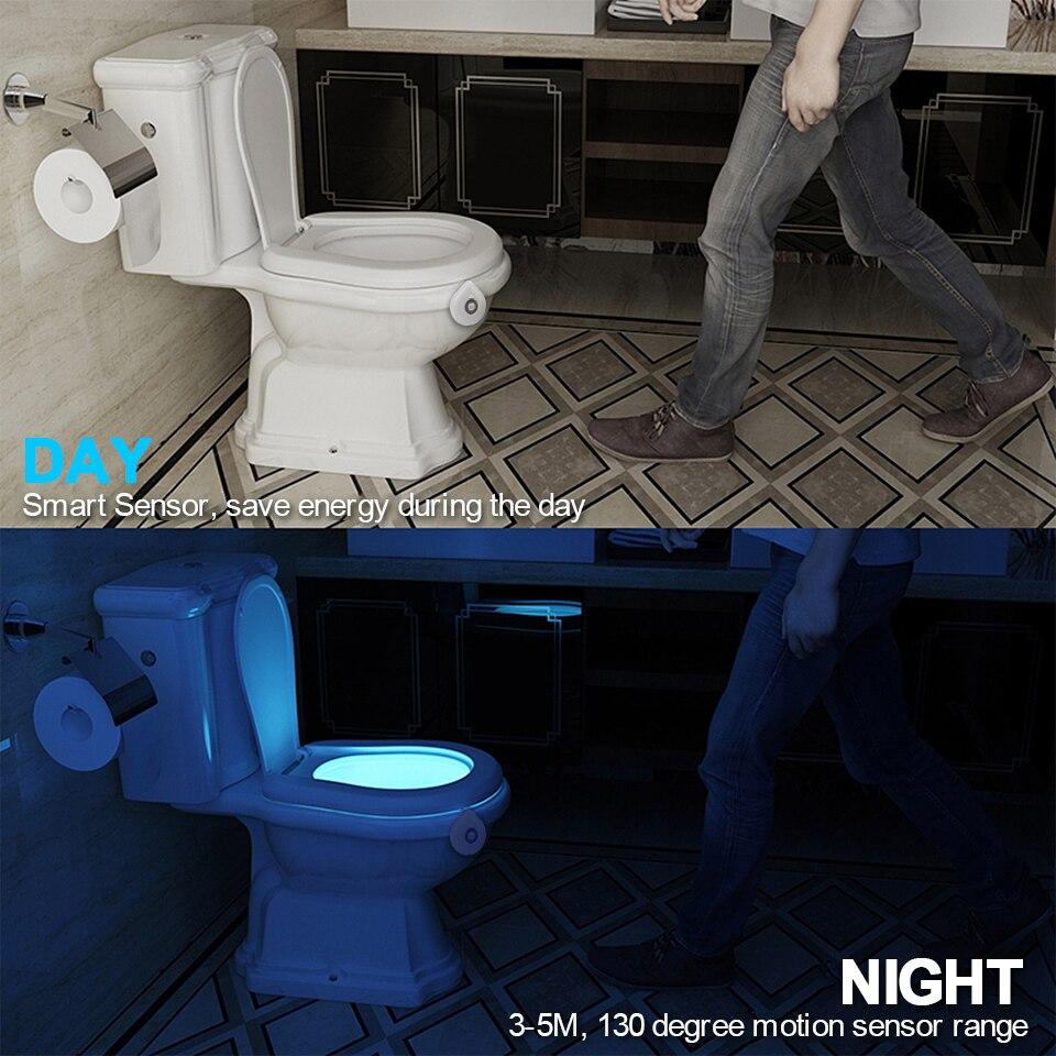 Room - LED Toilet Seat Night Light Motion Sensor WC Light 8 Colors