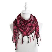 2016 Unisex Women Men Checkered Arab Grid Neck Keffiyeh Palestine Scarf Wrap 5 Colors Wholesale(China)