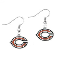 5 Pairs Football Fans Earrings Alloy With Enamel American Football Chicago Bears Charm Drop Earrings(China)
