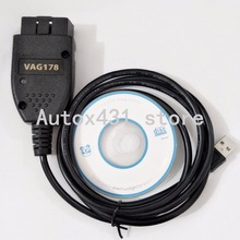 10PCS /LOT Newest version VAG COM 17.8 VAGCOM 17.8 VCDS HEX CAN USB Interface VAG 17.8 English SUPPORT GOLF6