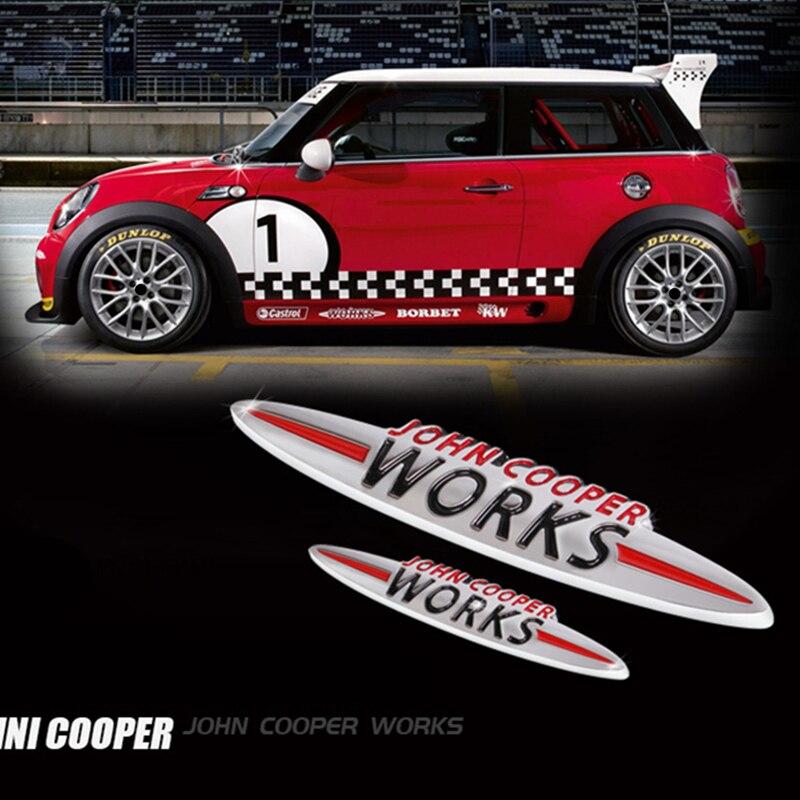 Mini Cooper John Cooper Works metal badge emblème One Cooper S D COUNTRYMAN JCW 4