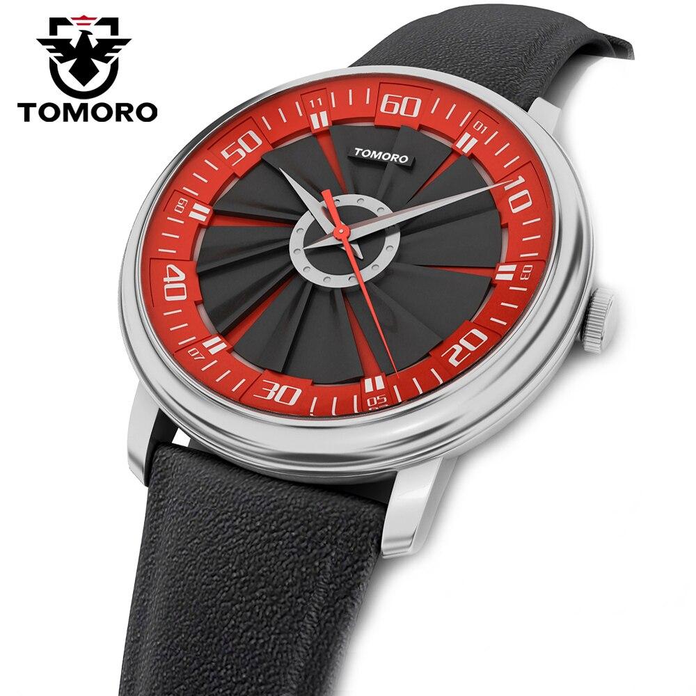 TOMORO 2017 New Original Design Luxury Brand Fashion Sport Quartz Watch Men Casual Calfski Leather Strap Wristwatch<br><br>Aliexpress