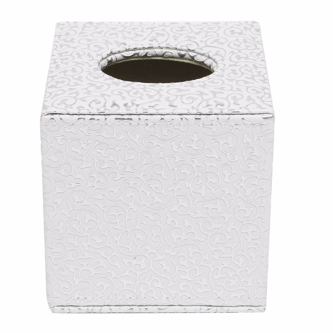 1pc Square Tissue Boxes PU Leather Tissue Storage Holder Toilet Kitchen Paper Case Mayitr Home Organization Supplies