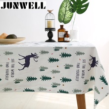 Junwell New Arrival Seasonal Printing Tablecloth Colorful Table Cloth For Xmas Different Sizes Available