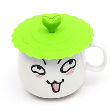 4 Colors Cute Anti-dust Silicone Glass Cup Cover Coffee Mug Suction Seal Lid Cap Silicone Cup Cover ZH01727