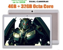 "Free shipping 10 inch Tablet PC Android 4.4 Octa Core 4GB RAM 64GB ROM 5.0MP 1280*800 IPS 3G Tablet 10.1""+Gifts(China)"