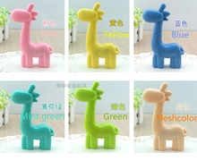 LIUSVENTINA cute animal Giraffe contact lens case lenses container box