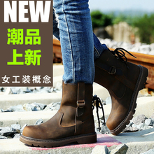 2016 Brand Sexy Genuine Leather Winter Ladies Boots Shoes Women Round Toe Elastic Band Snow Boots Solid Shoes Woman Size 35---42(China)