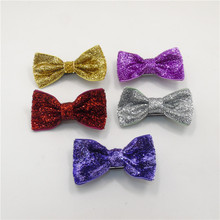 15pcs/lot Fall and Winter Glitter Bow Knot Hair Clips Red Gold Silver Rose Purple Autumn Cute Girl Barrette Trendy Girl Hairpins
