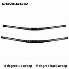 Comego full carbon fiber bicycle handlebar mtb bar bicycle accessories flat 31.8*690/720mm 4 upsweep 9backsweep(China)