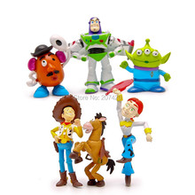6pcs/set 5-10cm Collection Anime Toy Story Woody Buzz PVC Action Figure Model Toys Kids Gift