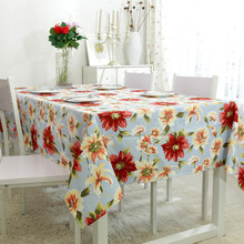 100% Cotton Table Cloth Europe&America Style Pastoral Print High Quality Tablecloth Table Cover manteles para mesa Free Shipping