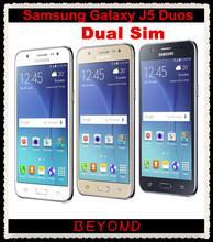 "Samsung Galaxy J5 Duos Original Unlocked GSM 4G LTE Android Mobile Phone Quad Core Dual Sim 5.0"" 13MP RAM 1.5GB ROM 8GB(China)"