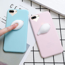 3D Cartoon Animal Soft Doll Phone Case for iPhone 7 Silicone Case Slim Shockproof Patterned Cover Coque for iPhone 6s 7 Plus