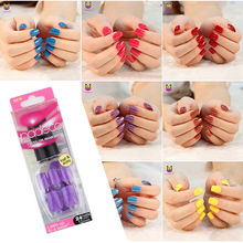 False Nails Tips Press On Manicure Gel Polish False Tips Nail Art Design Short Length Artificial Nails Extension Design(China)