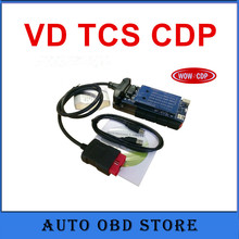 3pcs OBD scanner 2015.3.R3 with keygen software cdp no bluetooth VD TCS cdp pro for car and truck professional diagnostic tool(China)