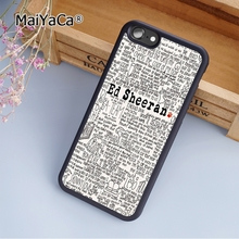 MaiYaCa Ed Sheeran Song Lyrics fashion soft mobile cell Phone Case Cover For iPhone 6 6S Custom DIY cases luxury shell(China)
