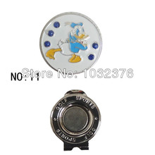 Golf ball mark cartoon magnet hat clip golf products(China)