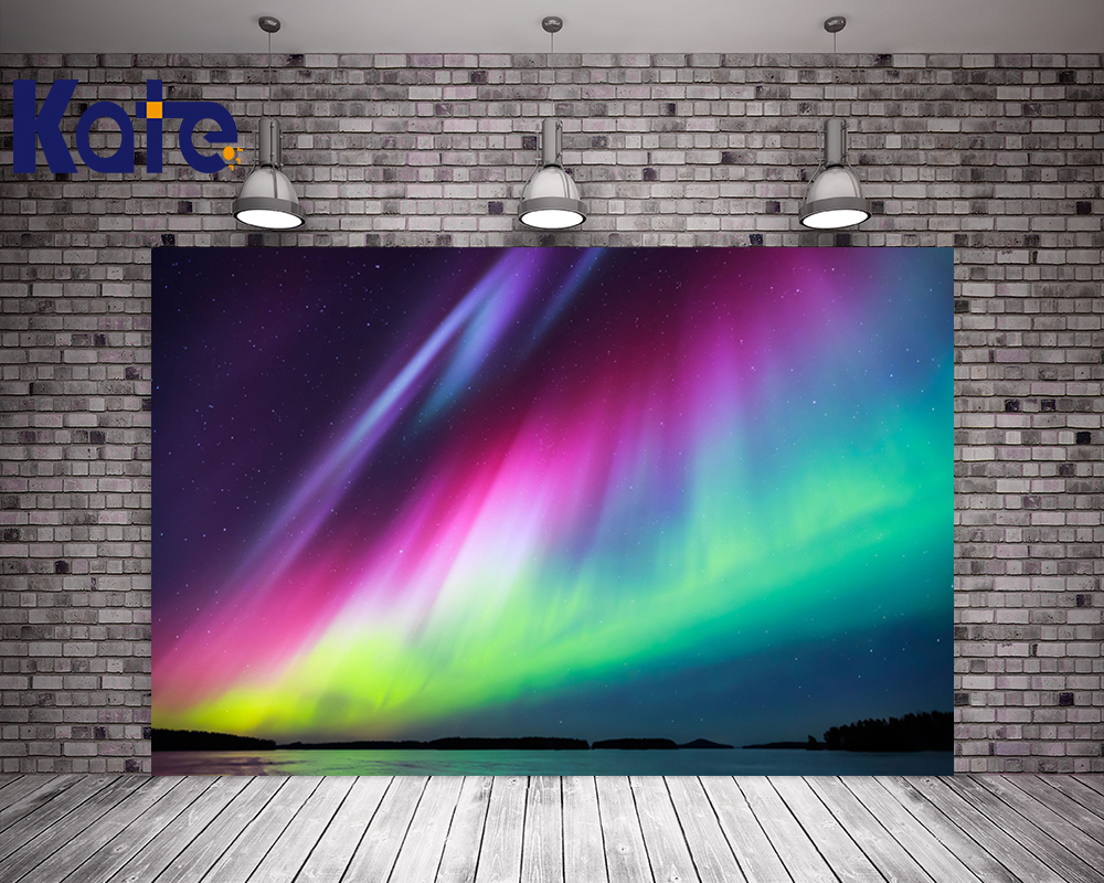Kate Colorful Aurora Photo Shoot Backdrop Scenic Washable Backgrounds For Photo Studio For Children Photo Studio<br>
