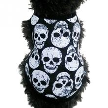 Dog Vests Halloween Style Dog Skull T Shirt Puppy Cat Dog Vest Clothes Apparel Costumes(China)
