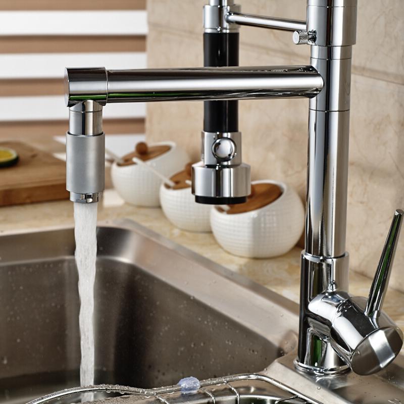 Deck-Mount-Single-Lever-Kitchen-Mixer-Faucet-One-Hole-Spring-Swivel-Spout-Mixer-Tap-Chrome-Finish (2)