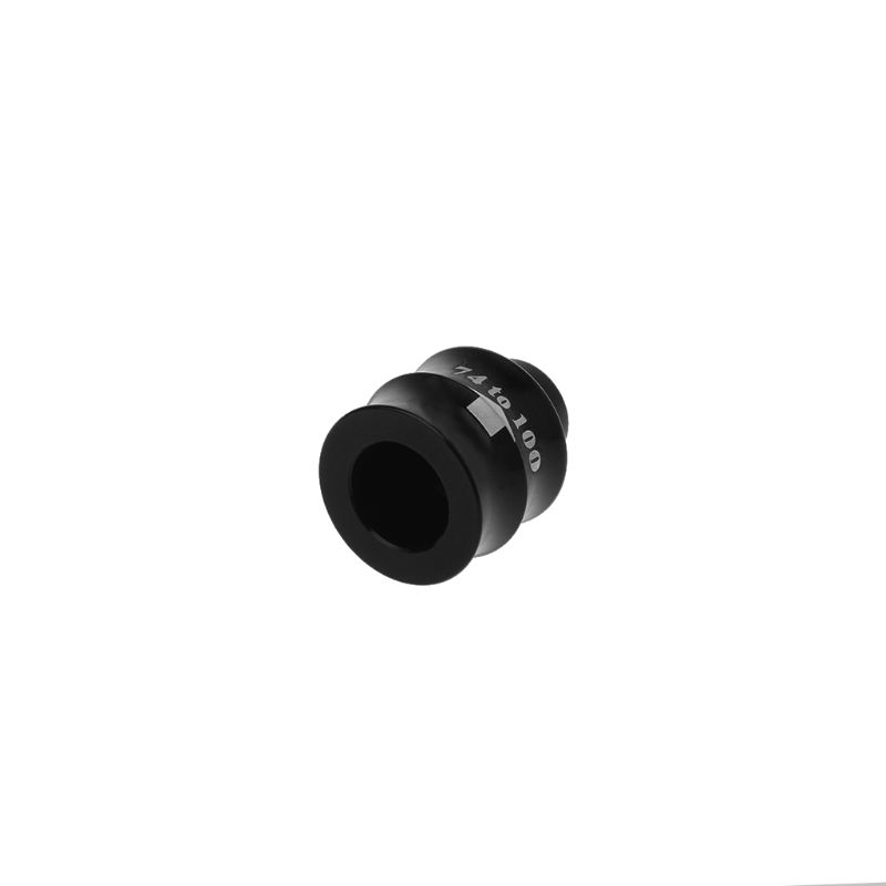 Bicycle hub 2pcs Bicycle Hub Adapter Converter 74mm to 100mm Conversion Extension Seat Front Fork Parts MTB Bike Supplies Accessories strong and sturdy Color : Black