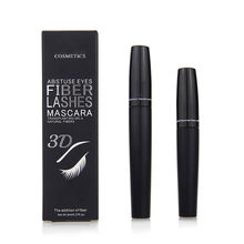 YANQINA Waterproof 3D Mascara Curling Fiber Eyelash Cream Makeup Lashes Beauty(China)