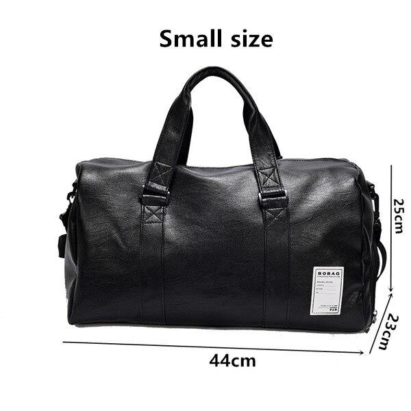 Women Men PU Leather Sport Gym Bag Travel Duffle Bags Waterproof Handbag Outdoor Fitness Shoulder Bag sac de sport1_