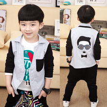 Spring/Autumn Glass Man Thin Button Boys Blazers Kids Jacket Suits Outerwear Baby Clothes New 2016 T2/DBO