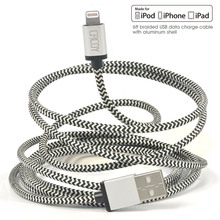 8 x Pack [MFi Certified] Cacoy 2M for Lightning to USB Cable Braided Charging Long Cord with Metal USB Casing for iPhone 7 6s 6