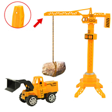 A Set Of Kids Toy Car Cheap Plastic Toys Crane Children Toy Hot Wheels Truck Piece Excavator Tractor Cars Models Christmas Gifts(China)