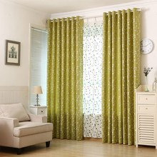 1Piece Famyfamy Brand 1*2M linen embroidered curtain leaves curtain for the living room finished curtain T35(China)