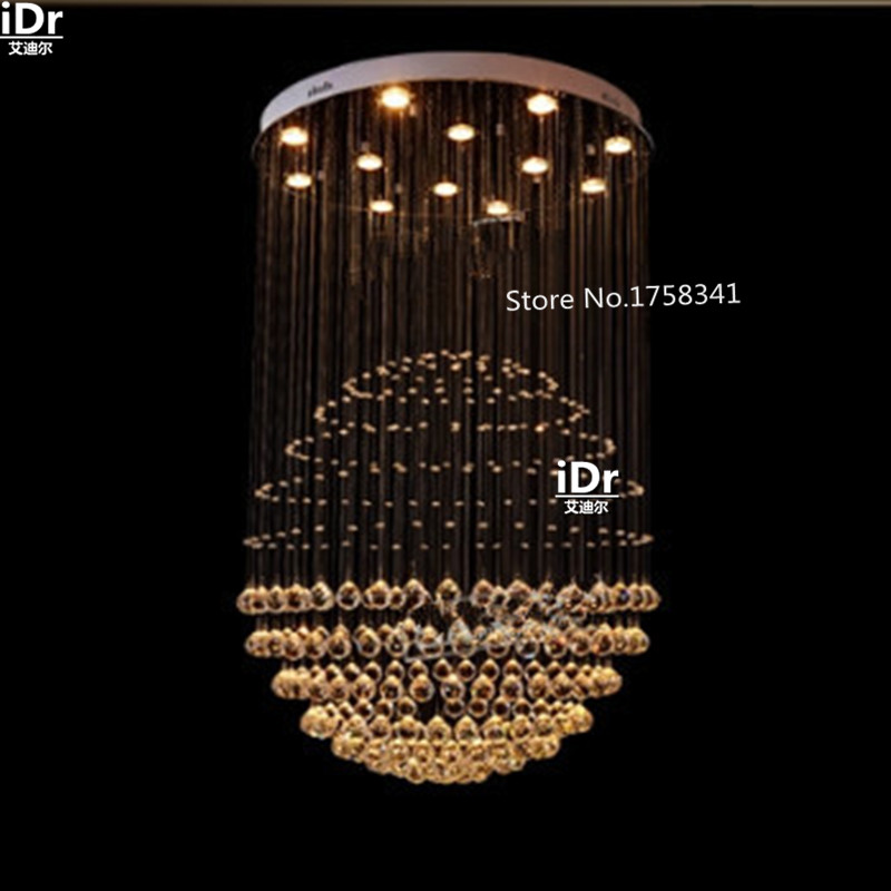 Modern villa club hall staircase chandelier crystal modern creative living room chandelier lighting 100% quality guarantee(China (Mainland))