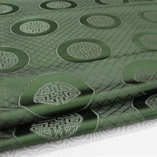 CF155 1 Yard 73cm Green Antique Silk Fabric Chinese Style Brocade Jacquard Fabric For Men Tang Suit Cloth Handmade Textile(China)