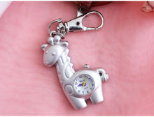 Charming minni horse deer key chain fashion jewelry Pocket Watch necklace pocket watch Drop shipping(China)