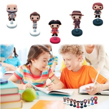 1piece Outlanders Cartoon Figures Mini PVC Standing Dolls Accessories Home Ornaments Car Spring Toys Kid Gift Party Favors(China)