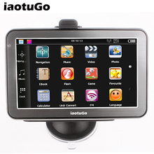5 inch Car GPS navigator bluetooth AV in MTK wince 6.0 gps navigation 128M,4G , support Hands Free(China)