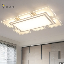 LICAN LED Ceiling Chandeliers Lights super thin acrylic Chandeliers lamp fixtures Surface mounted lighting fixtures for homes