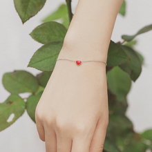 Hot Sale Silver Bracelet for Women with Enamel Heart Charm Bracelets Party Jewelry Gift