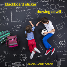 2M Long Kids Draw Wall Stickers Chalkboard Removable Blackboard Stickers for Home Kitchen Office Decor(China)