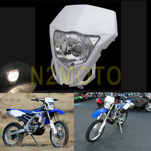 Motocross Headlight 12V 35W Headlamp for Yamaha WR250F WR450F KAWASAKI KLX KX 250 450 2012-2016 White Dirtbike(China)