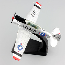 1:72 scale mini AMER World War II air craft plane fighter USAF 1953 LT-6G Texan Airplane diecast vintage model collection Toys