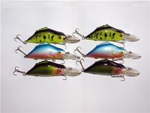 6 x HIGH BACK CRANKBAIT LURES In 3 Colours Special Offer For Your Fishing Needs With Free Postage(China)