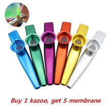 Simple Design Lightweight Kazoo Aluminum Alloy Metal For Guitar Instrument Music Lovers Instrument 12*2.5cm 6 Colors Optional(China)