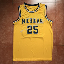 #25 Juwan Howard Michigan Wolverines College Basketball Jersey Embroidery Stitched Custom any Number and name(China)